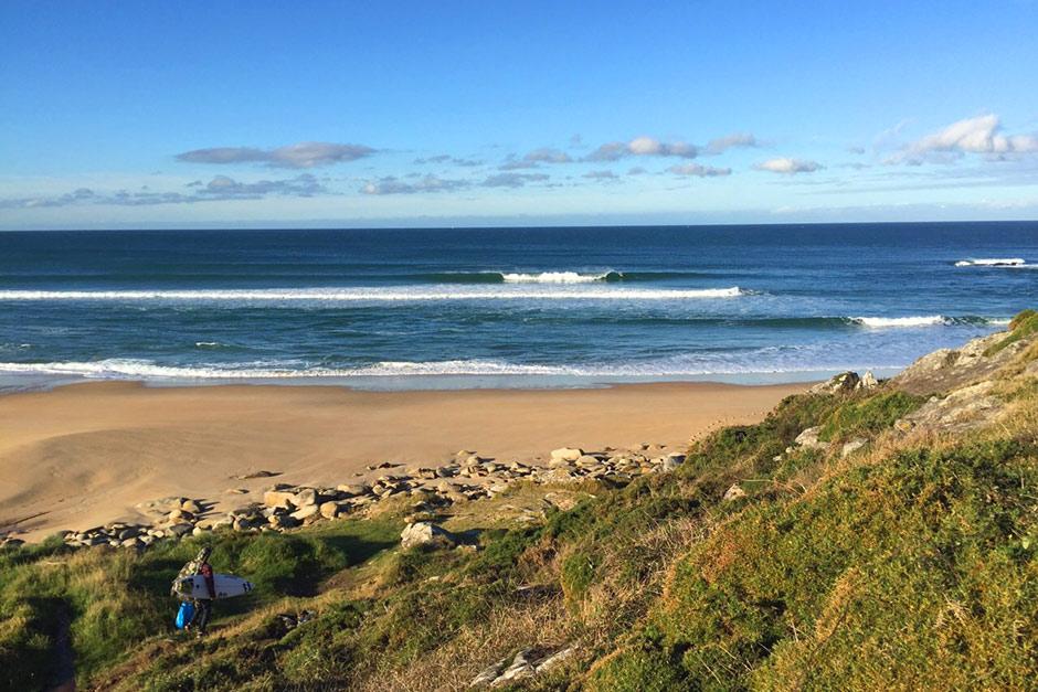 Pablo Montero de ruta turística por Galicia en otra placentera mañana de otoño. Foto: Pablo Muiños