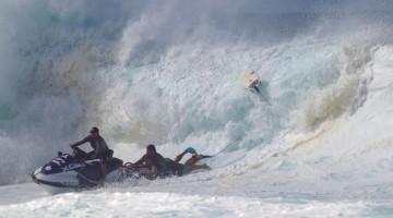 Aritz Aranburu en el momento de su rescate. Foto ASP/Masurel