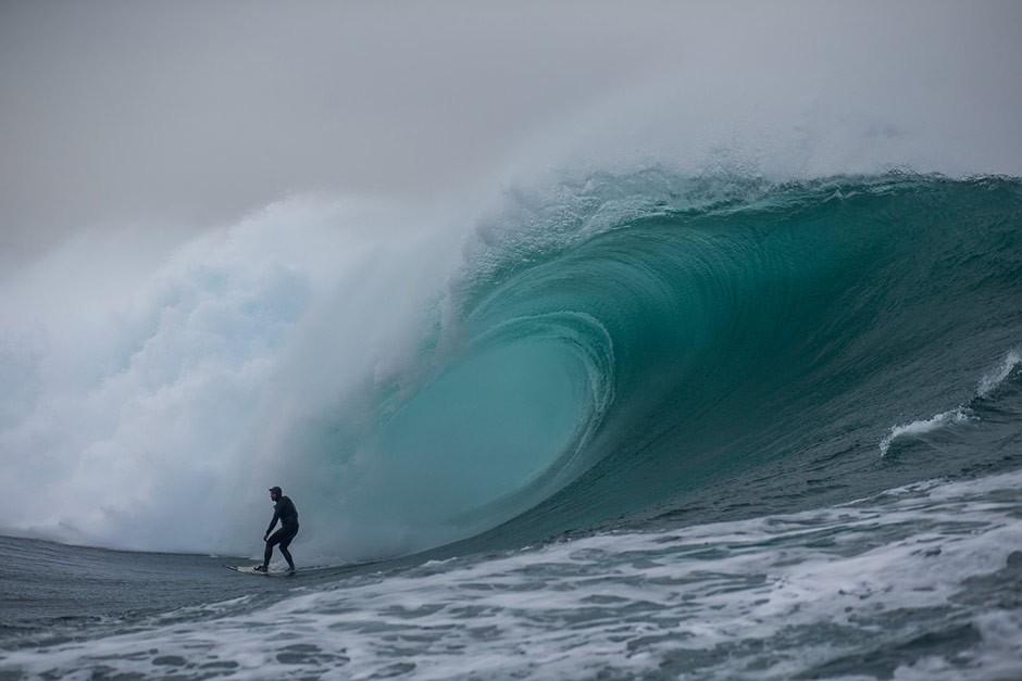 Thai Graham es el hombre de O´neill en Indo, y viajó hasta Galicia a probar esta maravilla. Foto: Bastien Bonnarme
