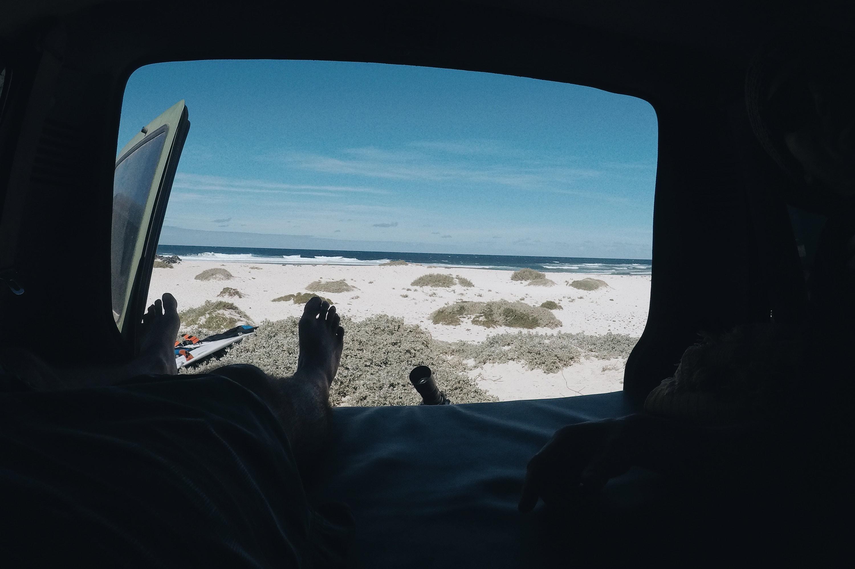 Vistas al pico desde el,coche de Hector Foto: Leo Zárate