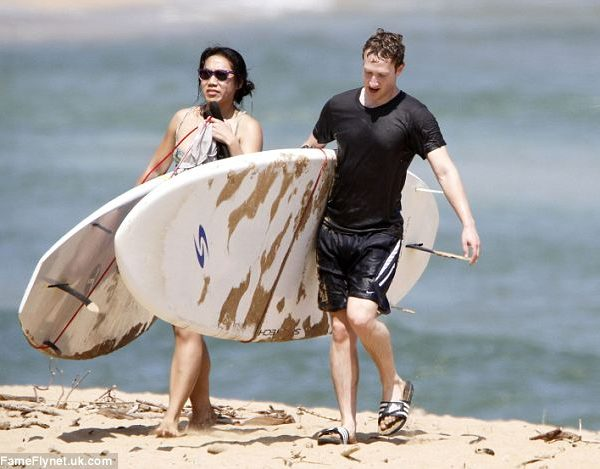 mark zuckerberg surf