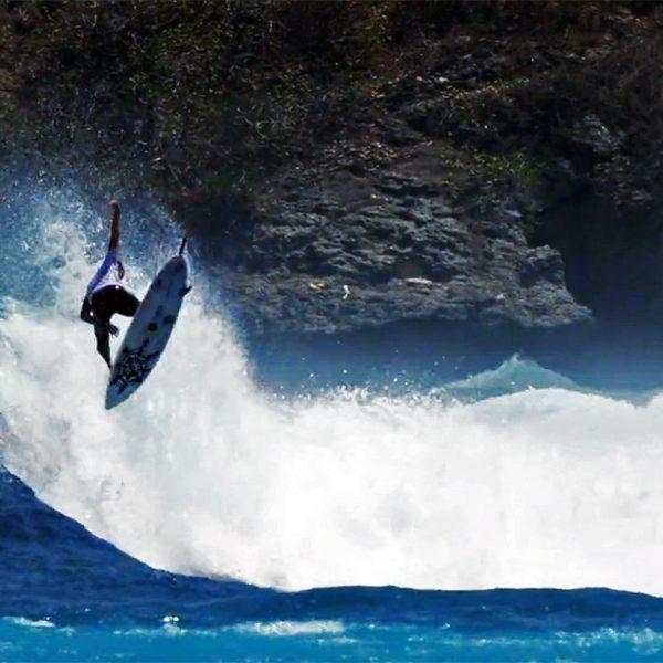 Brad Flora surfing