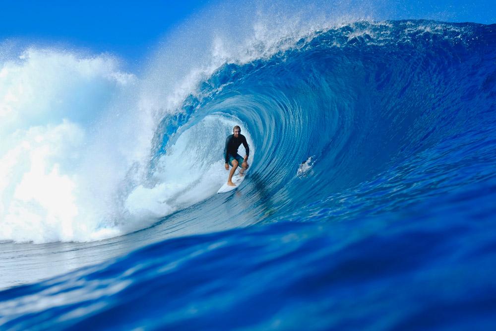 Joan Duru en Tahiti