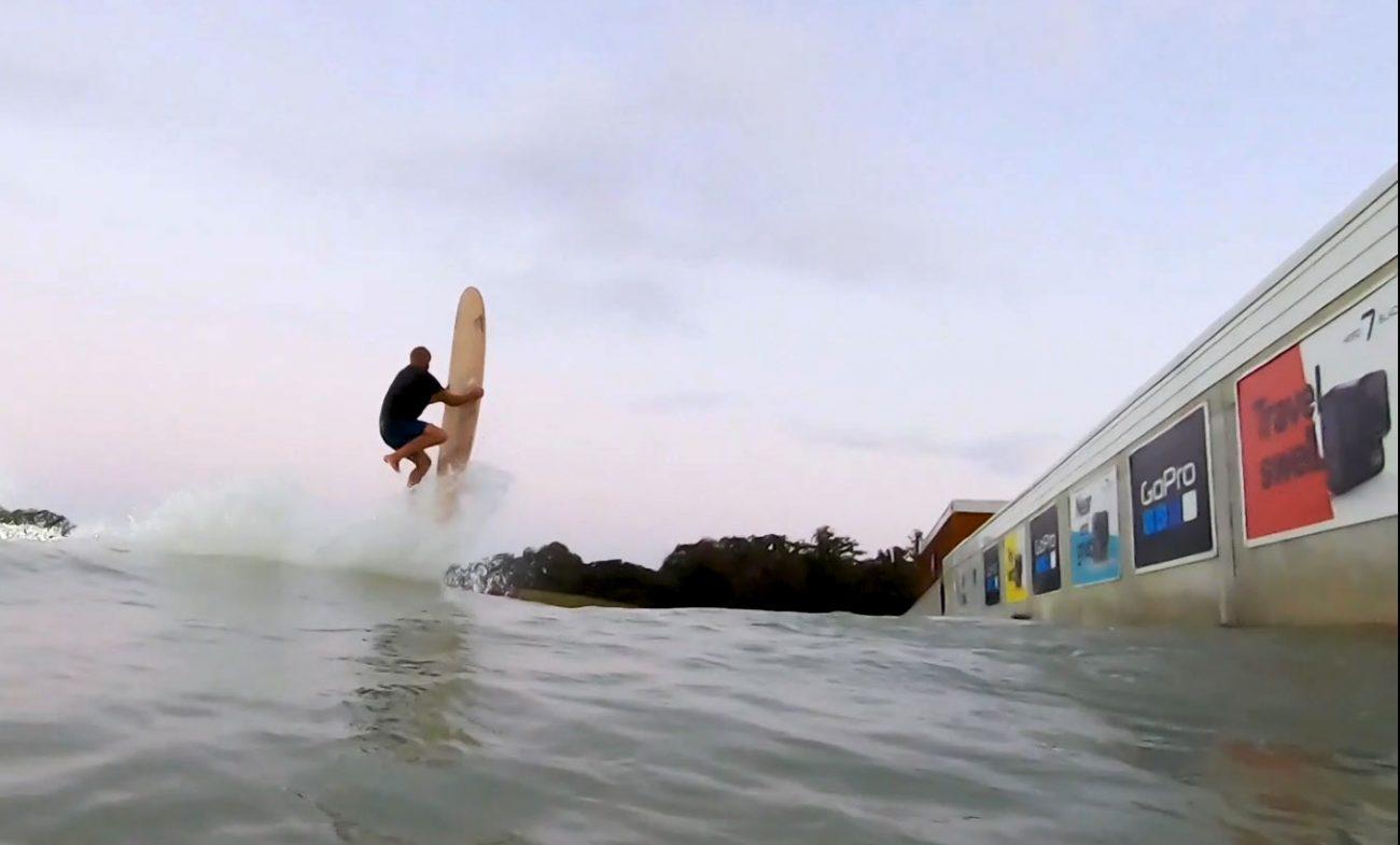 Taylor Jensen superman longboard